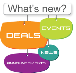 What's New? Deals, events, news, and announcements